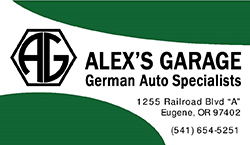 Click here to go to Alex's Garage website